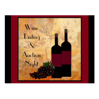 Wine Tasting Fundraiser Invitation Postcard