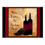 Wine Tasting Fundraiser Post Cards