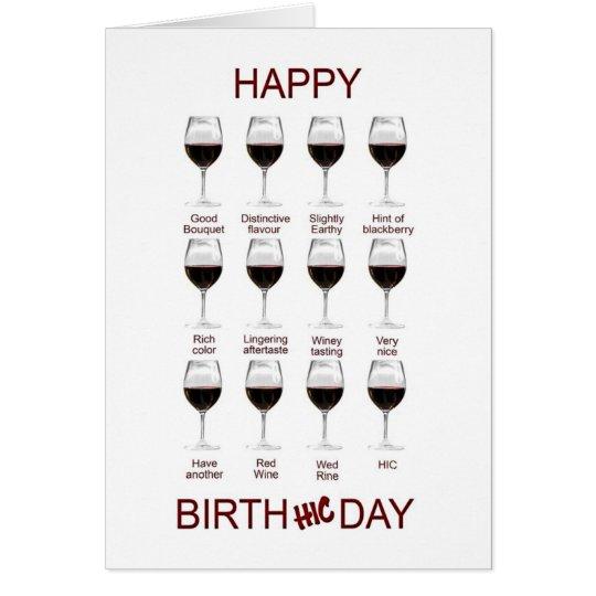 Wine tasting funny birthday card – Funny Birthday Cards