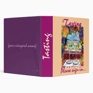 Wine tasting guest book binder
