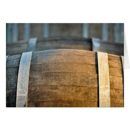 Wine Tasting Invitation with Aged Oak Wine Barrel