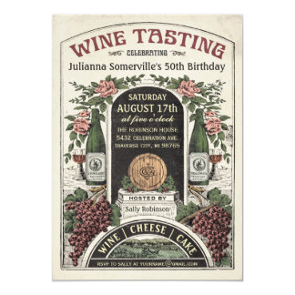 Wine Tasting Invitations v.2
