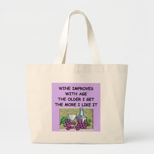 wine tasting jumbo tote bag