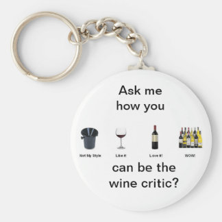 Wine Tasting Keychain
