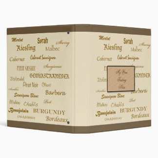 Wine Tasting Notes Binder