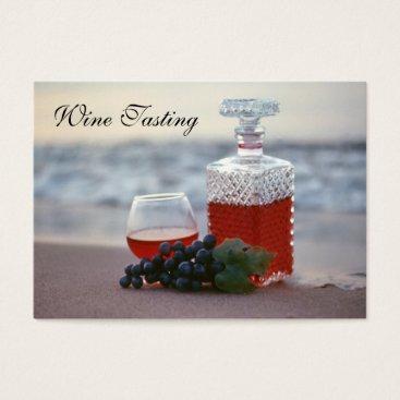 Beach Themed Wine Tasting on the Beach, Lake Michigan Vineyard Business Card