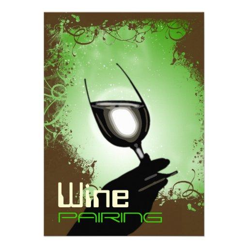 Wine tasting pairing party ~ elegant 5 x 7 invite