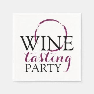 Wine Tasting Party Cocktails Paper Napkins