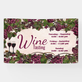 Wine Tasting Party Event Banner