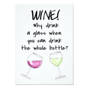 Funny Wine Invitations Zazzle