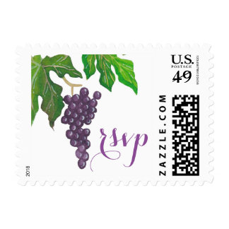 Wine Tasting Party Grapes RSVP Postage