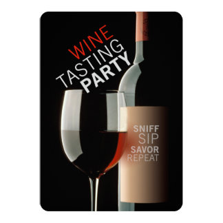 "WINE TASTING PARTY 5"" X 7"" INVITATION CARD"