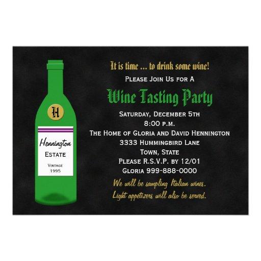 Wine Tasting Party Invitation - Chalkboard