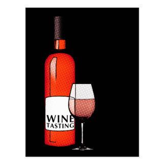 wine tasting party invitation postcard