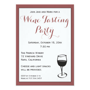 Wine Tasting Party Invitations Announcements Zazzle