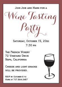 Wine Tasting Party Invitations | Zazzle