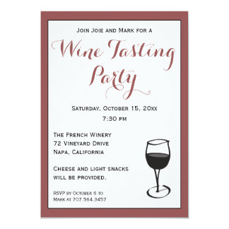 Wine Party Invitations Amp Announcements Zazzle