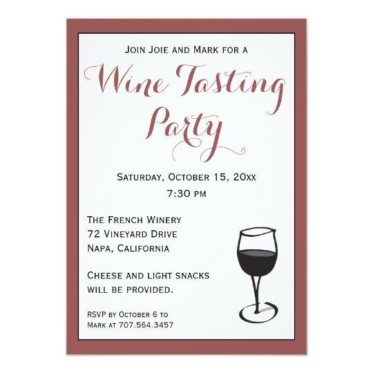 Wine Tasting Party Invitation Template Zazzlecom