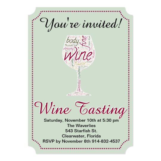 Wine Tasting party invitation you can customize