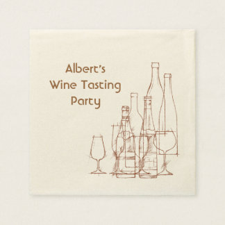 Wine Tasting Party Paper Napkin