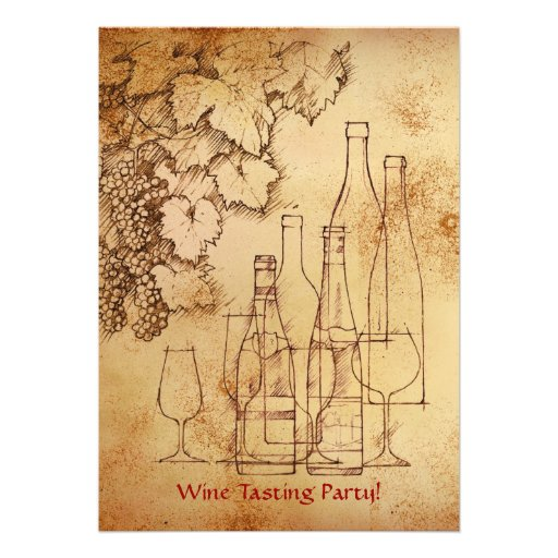 Wine Tasting Party Personalized Invitation