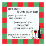 Wine Tasting Party Personalized Invite