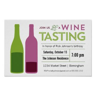 Wine Tasting Promotional Poster