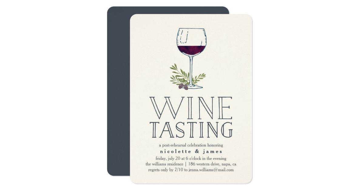 Wine Tasting Rehearsal Dinner Invitation Zazzle