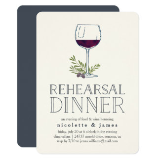 Wine Tasting Rehearsal Dinner Invitation