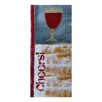 Wine Tasting Scorecard - Cheers Rack Card