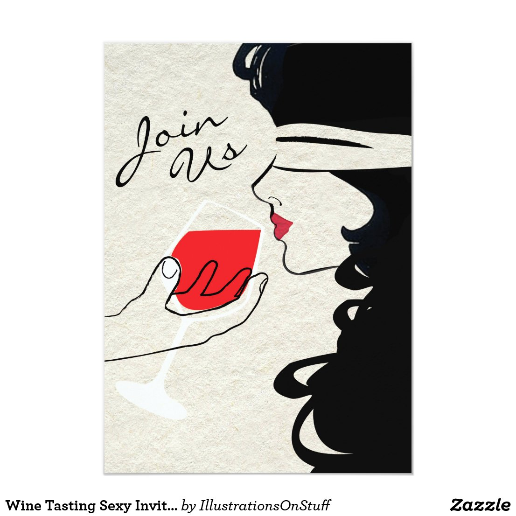 Wine Tasting Sexy Invitation
