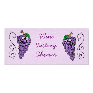 Wine Tasting Shower or Party Invitation Grapes