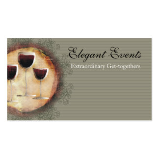 Wine tasting sommelier catering business card, ...