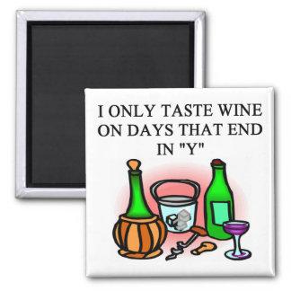 WINE tasting taster design 2 Inch Square Magnet