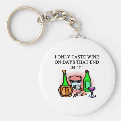 WINE tasting taster design Keychains