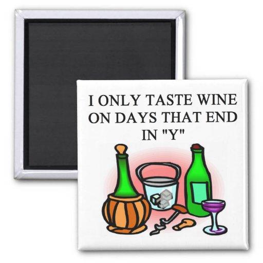 WINE tasting taster design Refrigerator Magnets