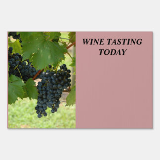 Wine Tasting Today Sign