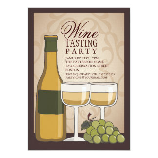 "Wine Tasting Tuscan Old World Party Invitation 5"" X 7"" Invitation Card"