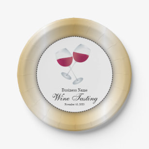 Wine Tasting with Glass of Red Wine Paper Plate  sc 1 st  Zazzle & Wine Plates | Zazzle
