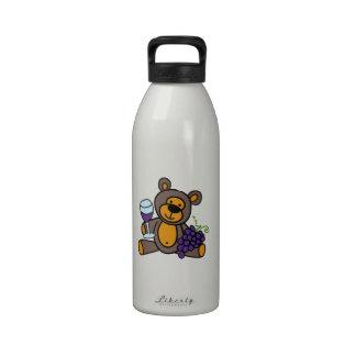 Wine Teddy Bear Reusable Water Bottle