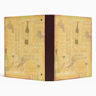 Wine Theme Binder