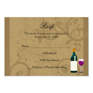 Wine Theme Matching RSVP Reply Cards
