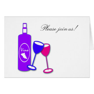 Wine Theme Paper Greeting Cards and Invitations
