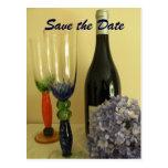 Wine Theme Save the Date Postcard