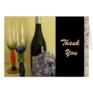Wine Theme Thank You Card