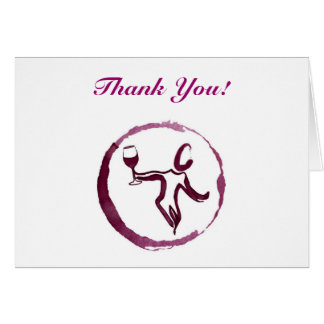 "Wine Theme ""Thank You"" Card"