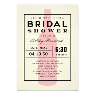 Wine Themed Bridal Shower Invitations Announcements Zazzle