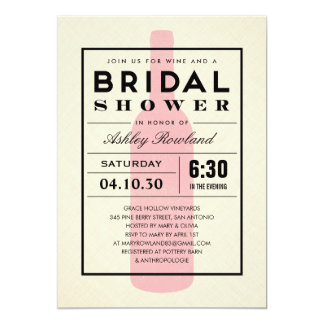 Wine Themed Bridal Shower Invitations & Announcements | Zazzle
