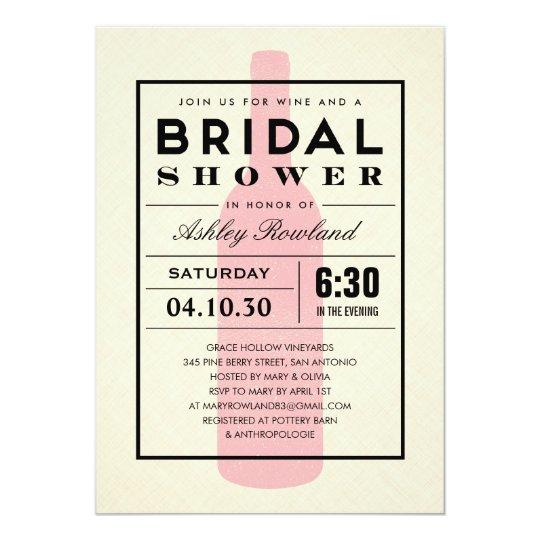 Wine themed bridal shower invitations zazzle for Themed bridal shower invitations