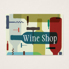 Wine themed business card at Zazzle